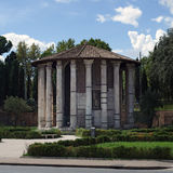 Temple of hercules, victor in rome. Ancient ruins in rome, italy Stock Photography