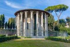 Temple of Hercules Victor. Rome Royalty Free Stock Photography