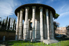 Temple of Hercules Victor in Rome Royalty Free Stock Images