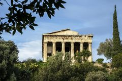 Ancient Agora in Athens, Greece. Temple of Herphaesus in the Ancient Agora in Athens, Greece Stock Photography