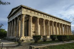 Ancient Agora in Athens, Greece. Temple of Herphaesus in the Ancient Agora in Athens, Greece Royalty Free Stock Images