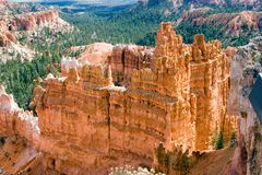 Temple of the Hills. Grand Temple within Bryce Canyon stock image