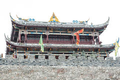 Temple on a hilltop. In China Stock Photography
