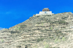 Temple on a hilltop. In China Royalty Free Stock Photos