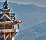 Temple In Himalaya royalty free stock image