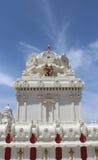 Temple hindou de Malibu - vue externe de structure faisante le coin Images libres de droits