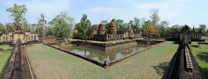 Temple hindou de Prasat Muang Tam Photos libres de droits