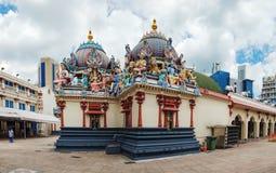 Temple hindou de Sri Mariamman dans Chinatown, Singapour photos libres de droits