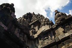 Temple hindou du 9ème siècle Prambanan sur Java Island Images stock