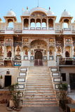 Temple hinduism in Mandawa rajasthan. State in india royalty free stock image