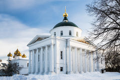 The temple in the heart of city on quay. Russia, Yaroslavl. Stock Images