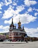 The Temple Of The Holy Great Martyr George The Victorious. In Chelyabinsk, South Ural Stock Photography