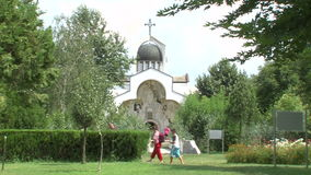 Temple of the Holy Petka in Rupite, Bulgaria stock video
