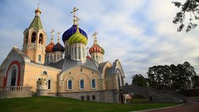 The temple of the Holy Prince Igor of Chernigov stock footage
