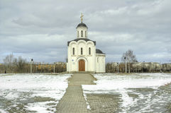 Temple of the Holy Prince Mikhail of Tver Stock Photography
