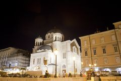 Temple of the Holy Trinity and St Spirid, Trieste Royalty Free Stock Image