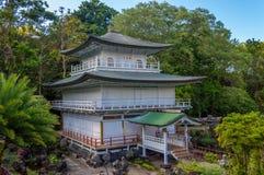 Temple, Honolulu Memorial Park. The The Kinkaku-ji  columbarium is modeled upon the renowned Kinkaku-ji (Golden Pavilion), Kyoto, Japan.nThis garden is listed in Royalty Free Stock Photography