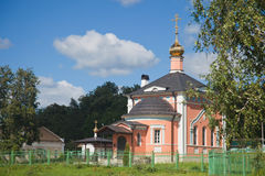 The temple in honor of All Sacred in Optina Pustyn. Kozelsk, Russia Stock Photos