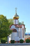 The temple in honor of Blessed Virgin Mary's icon Stock Image