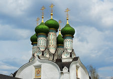 The temple in honor of the Dormition Stock Images