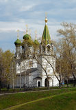 The temple in honor of the Dormition Stock Photography