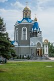 Temple in honor of the Mother of God `burning Bush` in the city of Dyadkovo, Bryansk region of Russia. stock photography