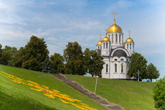 The temple in honor of St. George the Victorious in city Samara. Russia, Samara. The temple in honor of St. George the Victorious Stock Photography
