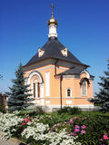 The temple in honor of the Transfiguration. Optina Royalty Free Stock Photo