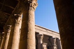 Temple of Horus. Columns of the Temple of Horus, Edfu,Egypt royalty free stock images