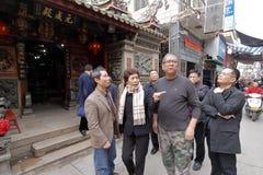 Temple huangling de chiwanggong de taoist de visite de Mme Photo libre de droits