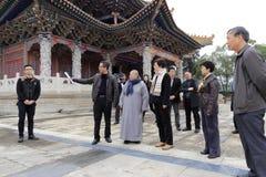 Temple huangling de Meishan de visite de Mme Images libres de droits