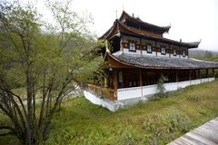 Temple in Huanglong Scenic Area Royalty Free Stock Image