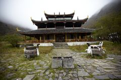 Temple in Huanglong Scenic Area Stock Photos
