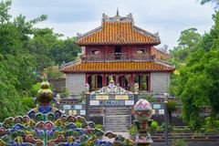 Temple in Hue Vietnam. Ancient temple in Hue Vietnam royalty free stock photography