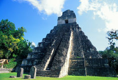 Temple I. Tikal Royalty Free Stock Photos