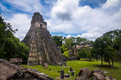 Temple I Gran Jaguar at Tikal National Park - Guatemala Royalty Free Stock Image