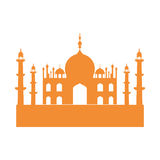Temple icon. Indian Architecture design. Vector graphic. Indian architecture concept represented by temple icon. Isolated and flat illustration Stock Photography