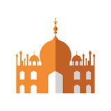 Temple icon. Indian Architecture design. Vector graphic. Indian architecture concept represented by temple icon. Isolated and flat illustration Royalty Free Stock Photo
