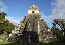 Temple II In Tikal, Guatemala. A view of Temple II at the Mayan Ruins in Tikal, Guatemala Royalty Free Stock Photos