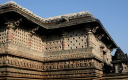 Temple In Belur Stock Photo