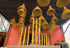 Temple Incense. Hong Kong, Kowloon Chinese coil incense royalty free stock photo