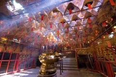 Temple Incense. Hong Kong, Kowloon Chinese coil incense Royalty Free Stock Photo