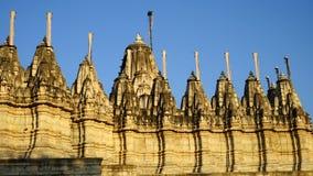 Temple Inde de Ranakpur images libres de droits