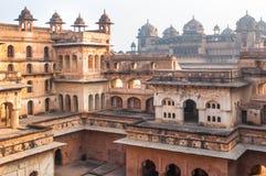 Temple indien antique, vieilles ruines de forteresse Photo stock