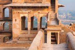 Temple indien antique, vieilles ruines de forteresse Images libres de droits