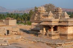 Temple indien antique, vieilles ruines de forteresse Photos stock