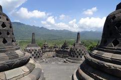 Temple Indonésie de Borobudur Photographie stock libre de droits