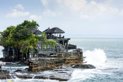 The temple an Indonesian island,. This is temple in Tanah Lot Stock Photos