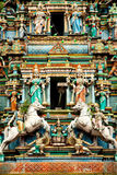 Temple indou à Kuala Lumpur Malaisie images stock