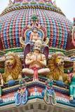 Temple indou à Singapour Photos stock